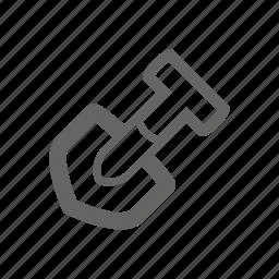 equipment, gardening, gardens, household, shovel, tool icon