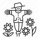 farm, farming, gardening, scarecrow icon