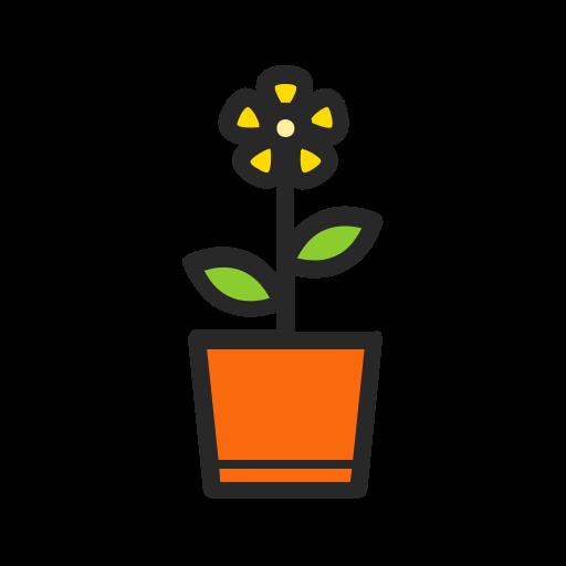 Floral, flower, garden, gardening, nature, plant, pot icon