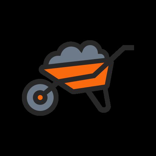 agriculture, farm, farming, garden, nature, plant, wheelbarrow icon