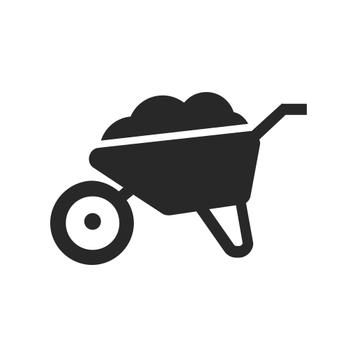 agriculture, farming, flower, garden, nature, plant, wheelbarrow icon