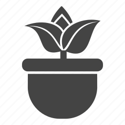 garden, gardening, growing, nature, plant, pot, seed icon