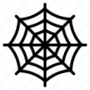web, spiderweb, horror, cobweb, halloween icon