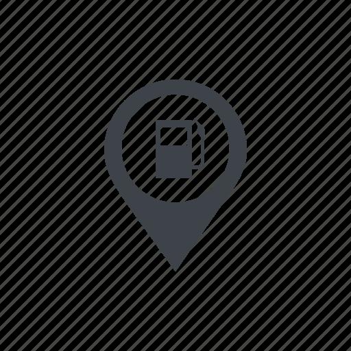 fuel, gas, gasoline, location, navigation, petrol icon