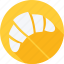 bekary, croissant, food, foods, gastronomy, restaurant icon