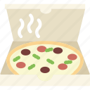 cheese, meal, piece, pizza icon