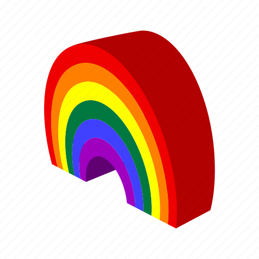 blue, bright, cartoon, color, rainbow, red, yellow icon