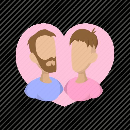 cartoon, couple, gay, heart, homosexual, love, male icon