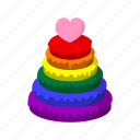 cartoon, color, community, homosexual, pyramid, rainbow, red icon