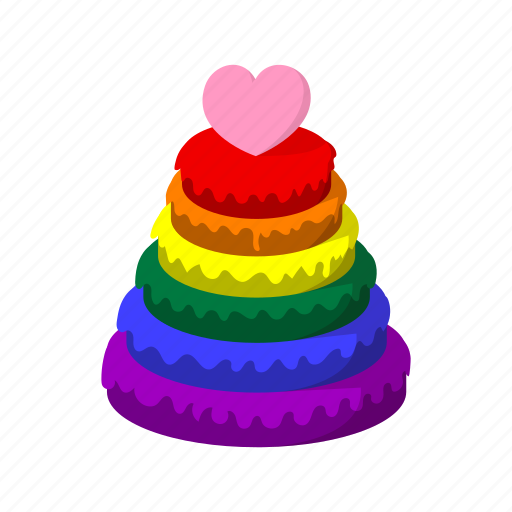 cartoon, color, community, homosexual, pyramid, rainbow, red icon