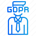 avatar, gdpr, head, personal, privacy icon