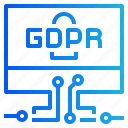 accessing, computer, gdpr, padlock, privacy