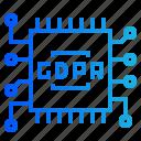 chip, digital, gdpr, internet, network icon