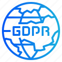 gdpr, global, internet, network, online icon