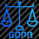 balance, judge, justice, law, libra icon