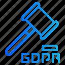auction, enforcement, hammer, law, legal icon