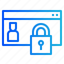data, gdpr, lock, personal, policy, privacy icon