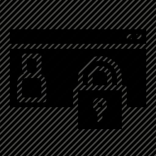 data, gdpr, lock, personal, policy, privacy icon