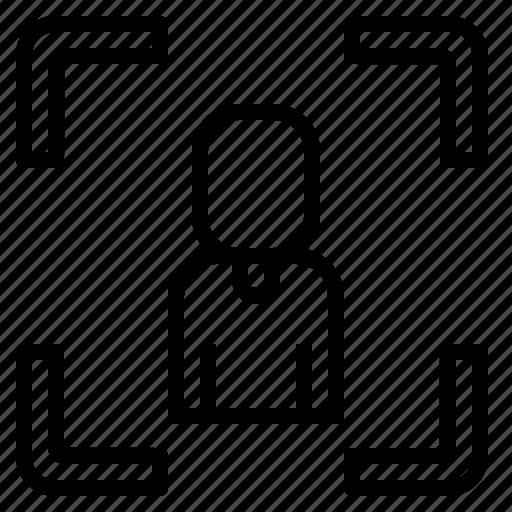 camera, face, person, photo, privacy icon