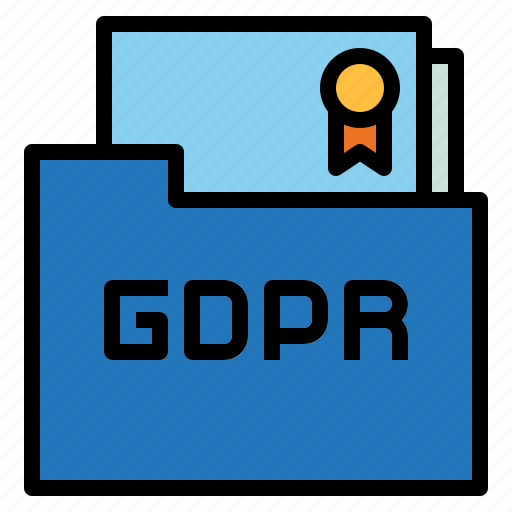agreement, contact, folder, gdpr, law icon
