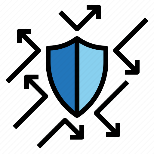 Gdpr, personal, protection, reflection, shield icon - Download on Iconfinder