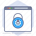 browser, data, gdpr, lock, policy, privacy, secure icon