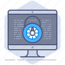 computer, data, gdpr, lock, pc, policy, privacy icon