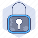 data, gdpr, lock, policy, privacy, protection, secure icon