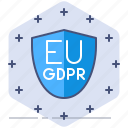 data, gdpr, policy, privacy, protection, schield, secure icon