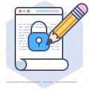 data, file, gdpr, lock, policy, privacy, secure icon