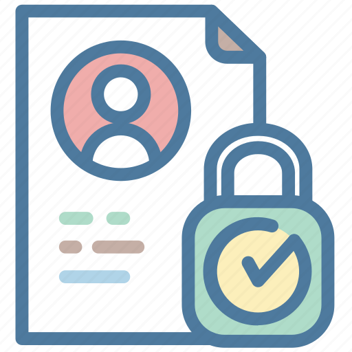 access, data, document, locked, personal icon