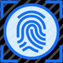 biometric, fingerprint, scan, security