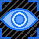 biometric, eye, scan, iris