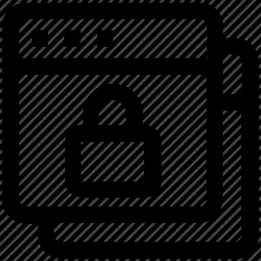 browser, gdpr, internet, lock, security, webpages, websites icon
