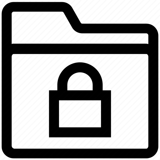 document, folder, gdpr, lock, safe folder, security icon