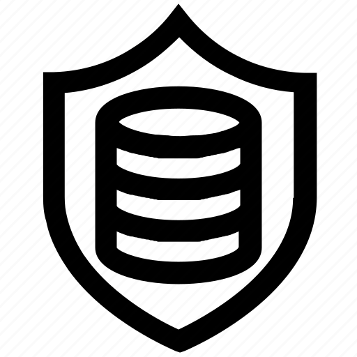 database, gdpr, protection, safety, secure, security, shield icon