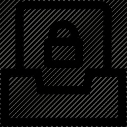 files, folder, gdpr, lock, privacy, security icon