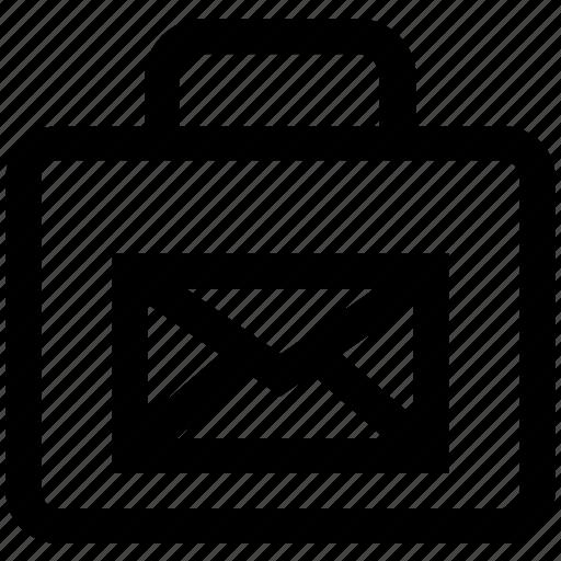 bag, email, envelope, letter, portfolio, shopping icon
