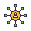 communication, connection, gdpr, interaction, network icon