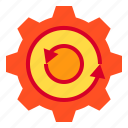 cycle, gear, hardware, service icon