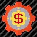 gear, hardware, service, us icon