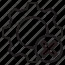 data, error, gear, service icon