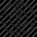 driver, gear, hardware, screw, service icon