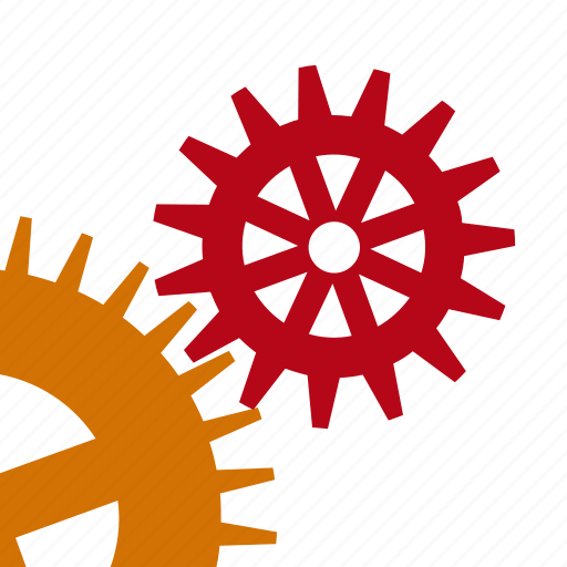 details, gears, technical, works icon
