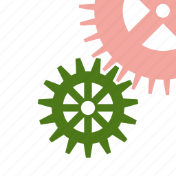 gears, industry, mechanism, technical, works icon