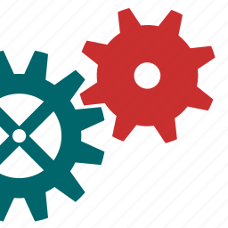 gears, industry, technical, tool, works icon
