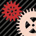 gears, mechanism, works icon