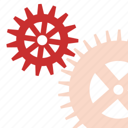gears, mechanism, works icon