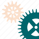 gears, mechanism, technical, tool, works icon