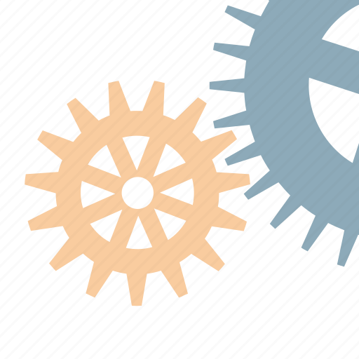 gears, mechanism, technical, works icon
